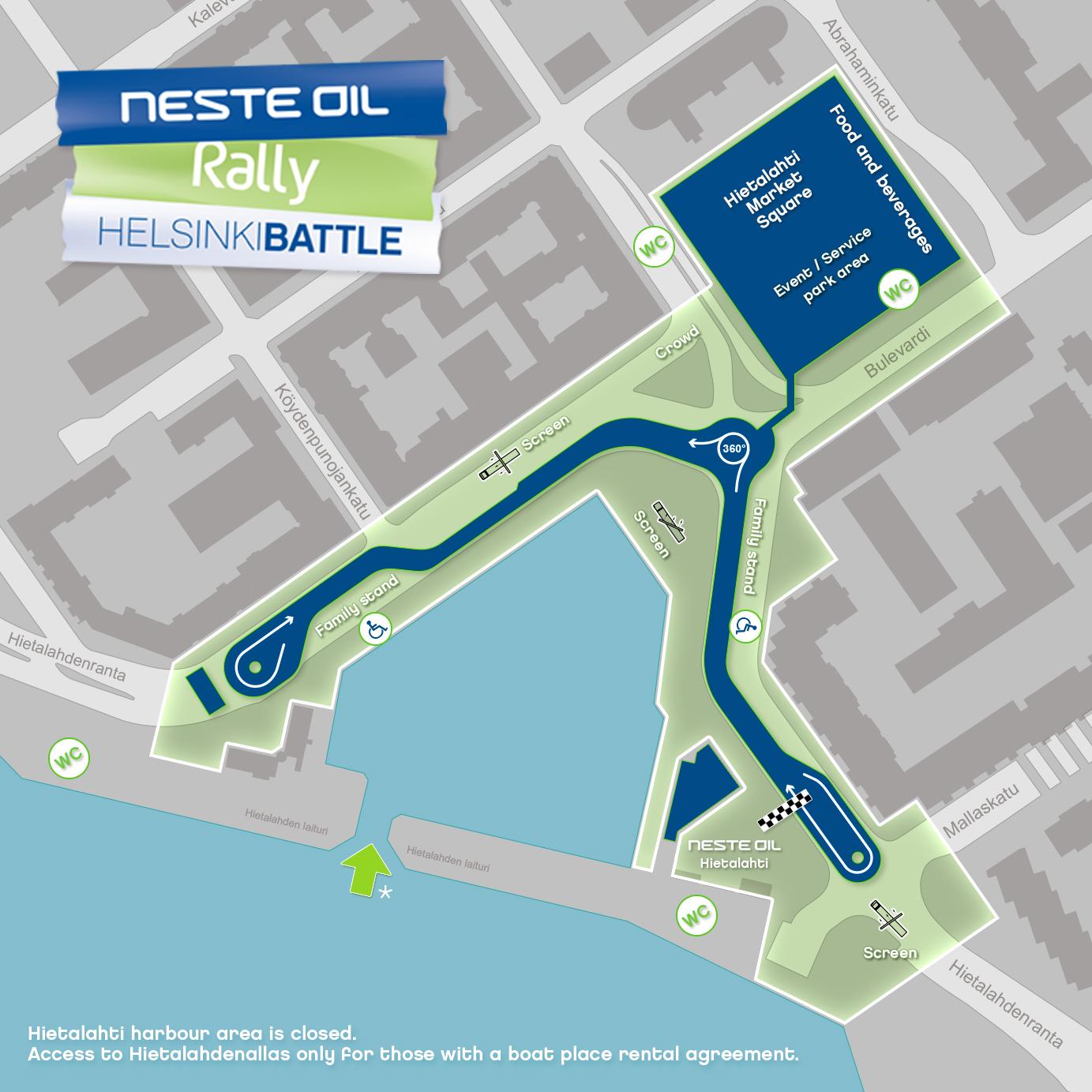 Neste Oil Rally Helsinki Battle